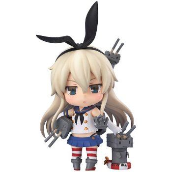 Anime Kantai Collection Shimakaze Figma 214 PVC Action Figure Model Doll Toy