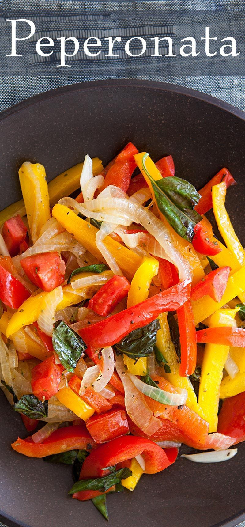 Peperonata (Sautéed Peppers and Onions) #bellpeppers