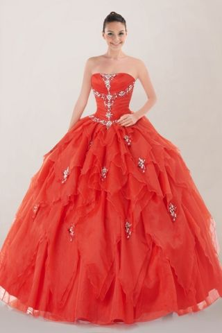 Fabulous Strapless Quinceanera Dress Featuring Layered Skirt with Sequined Motifs