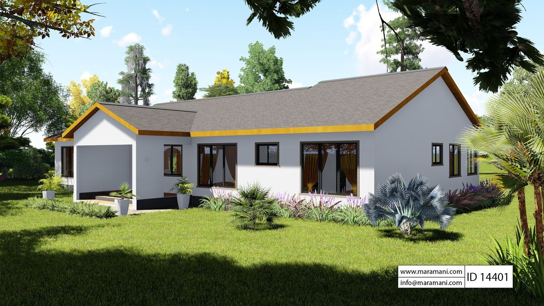4 Bedroom Countryside House Id 14401 House Plans By Maramani Countryside House Diy Tiny House Plans House Plans