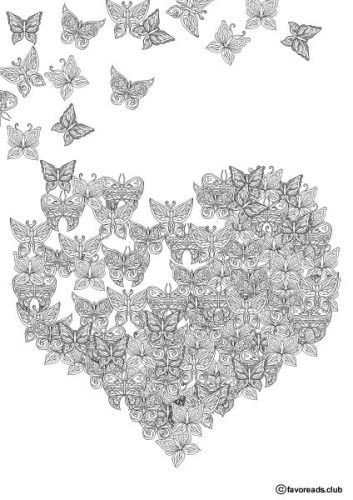 The World Of Butterflies Butterfly Heart Printable Adult