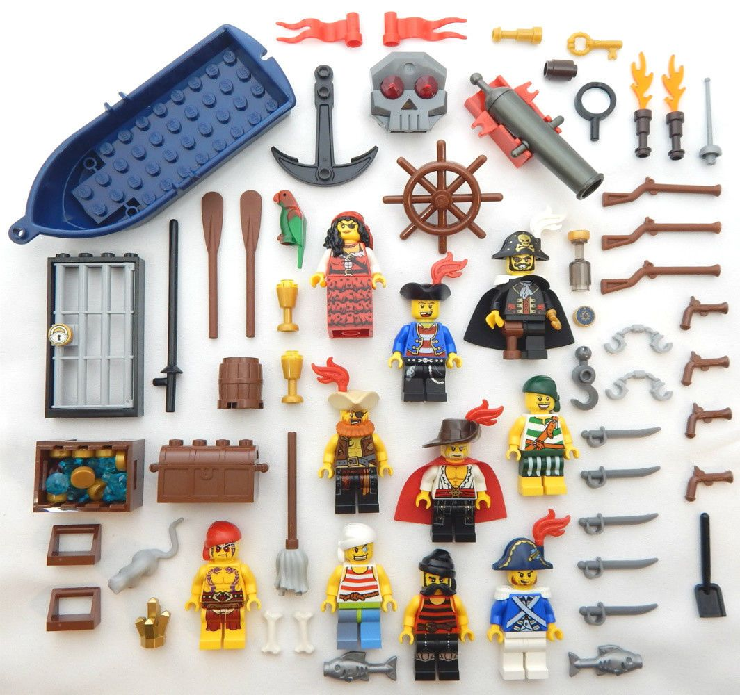10 NEW LEGO PIRATE MINIFIGS figures minifigures captain boat