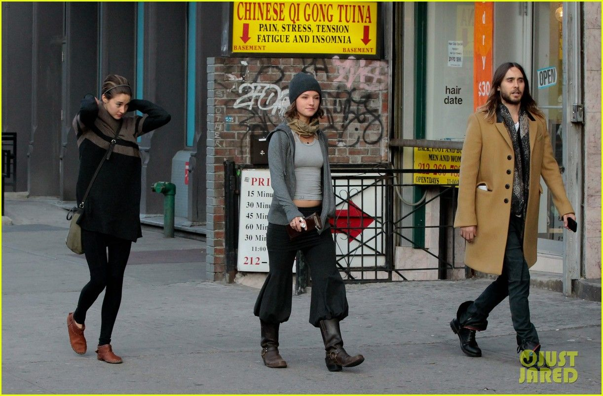 Shailene Woodley and Jared Leto out and about NYC