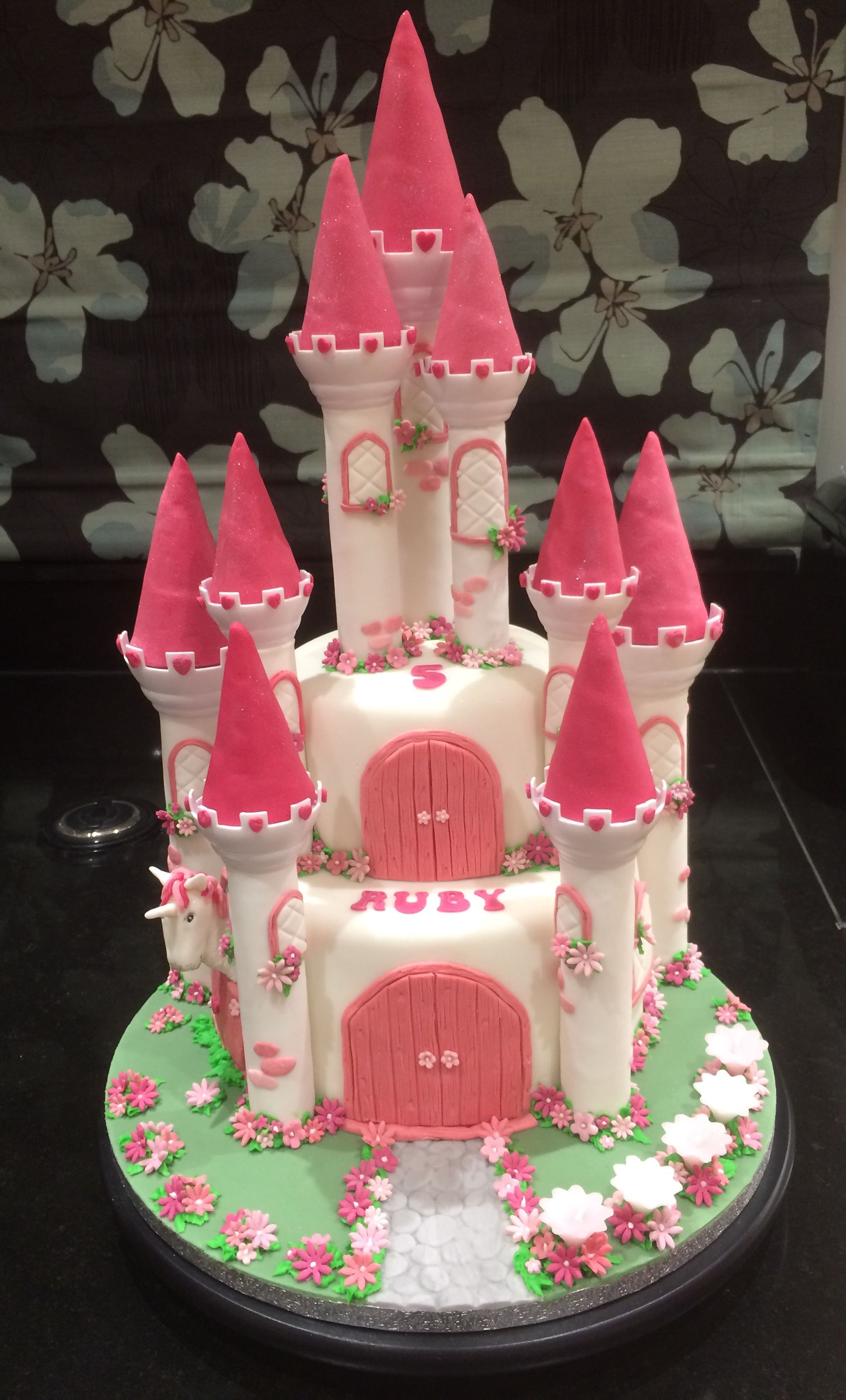 Princess Castle Cake Based On Wilton Romantic Kit Fairy Unicorn Fantasycastle