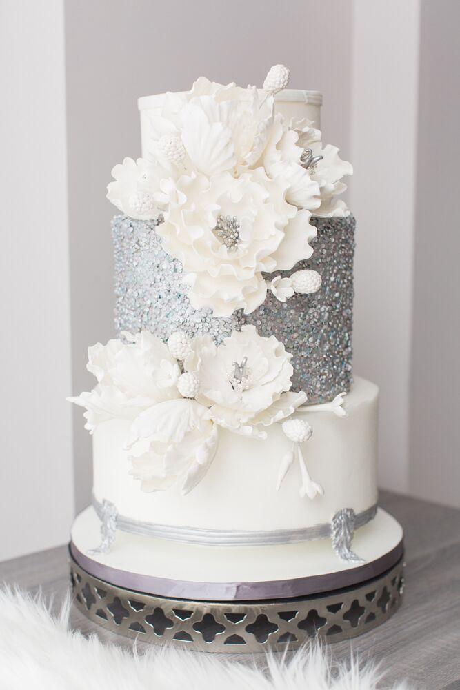 Luxurious White and Blue Winter Wonderland Wedding ...