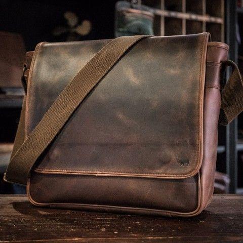 a7dbf8b415 Roosevelt Leather Satchel Messenger Bag - Dark Walnut
