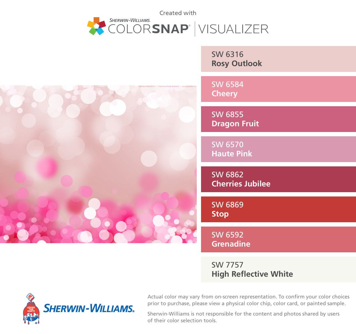Dragon fruit comes in three colors white pink and red or magenta white - I Found These Colors With Colorsnap Visualizer For Iphone By Sherwin Williams Rosy Outlook Sw Cheery Sw Dragon Fruit Sw Haute Pink Sw Cherries Jubilee