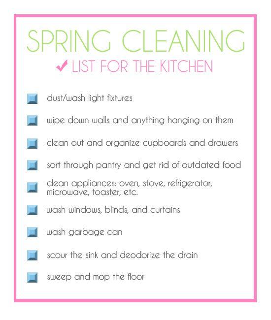 Kitchen Cleaning Checklist - zitzat.com