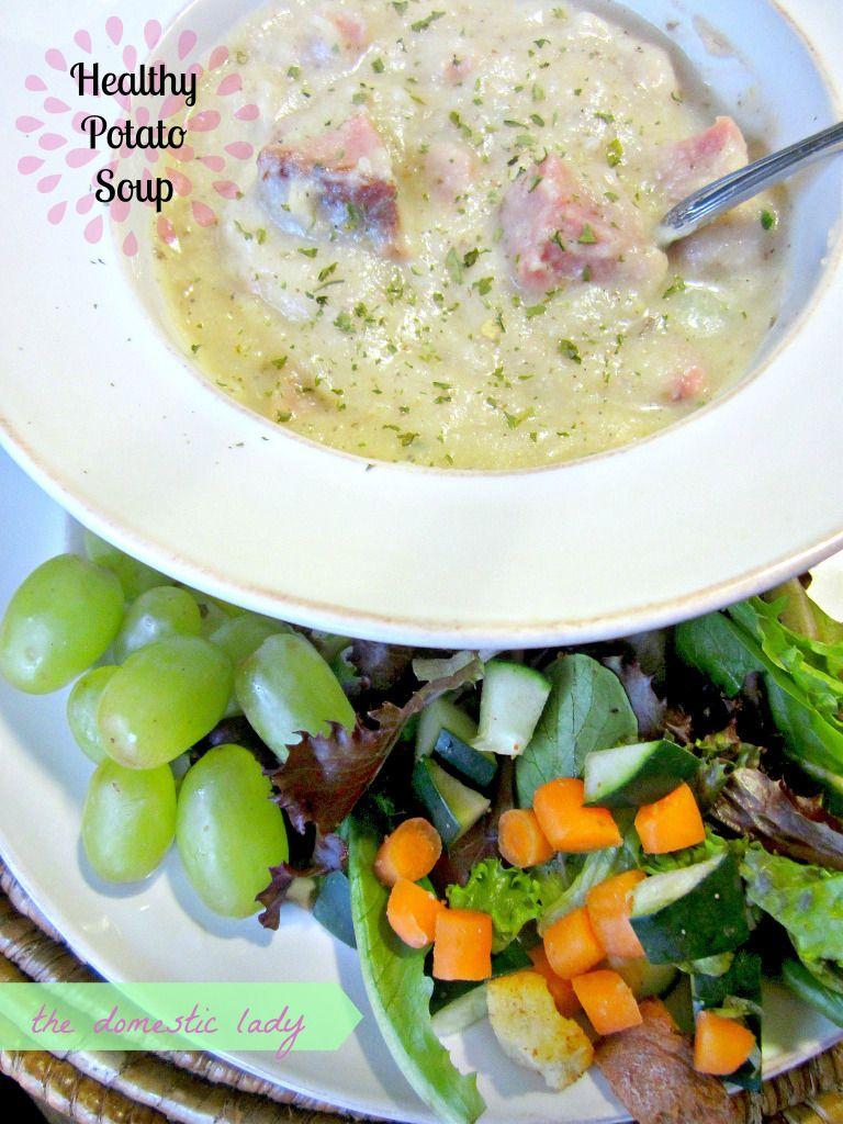 Saturday 43 Healthy potato soup, Healthy sandwich