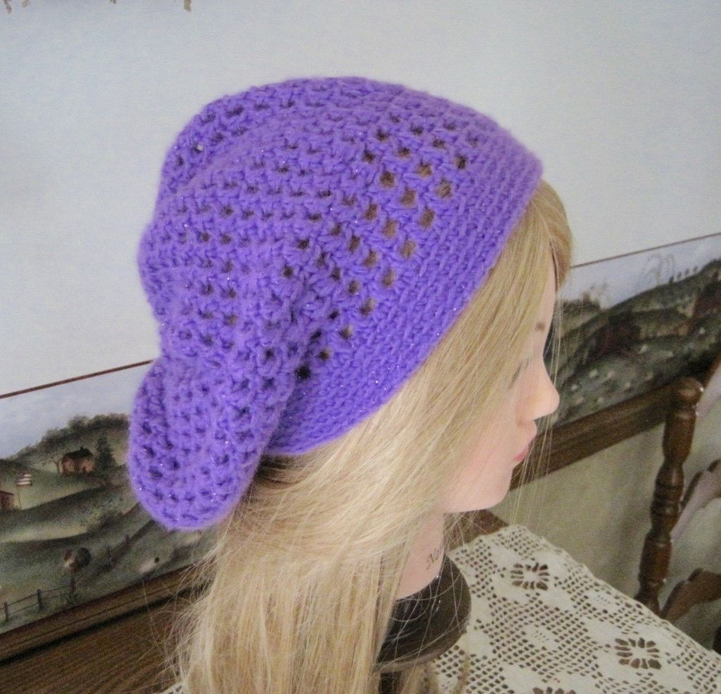 df719e30a17 Lightweight Purple Slouchy Hat