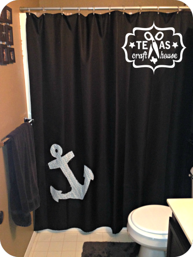Make Your Own Nautical Shower Curtain With Images Nautical