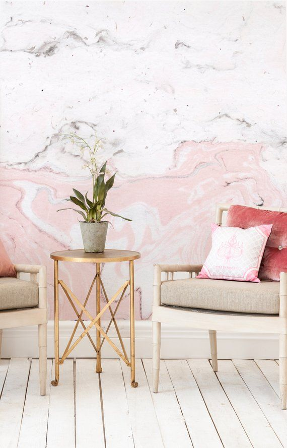 Pink marble stone texture wallpaper removable - Easy peel off wallpaper ...