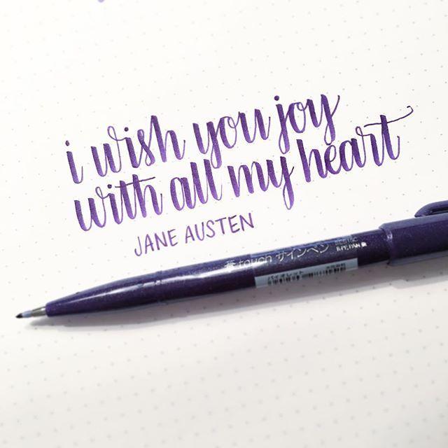 Pen Pentel Fude Touch In Purple Paper Rhodia Dot Pad