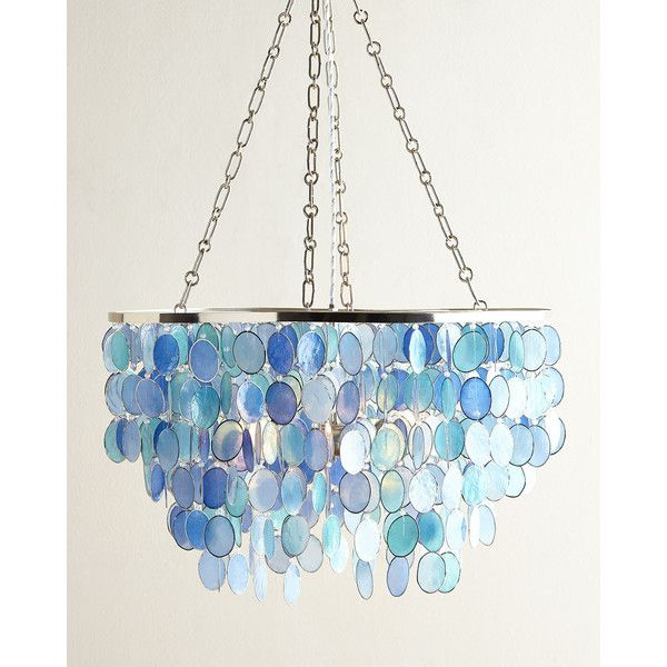 Mariana 3 Light Chandelier 5 425 Hkd Liked On Polyvore Featuring Home Lighting Ceiling Lights Chandelier Lighting Sea Glass Chandelier 3 Light Chandelier