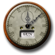 Steampunk clock icon - This is now a fancy widget that you can move around your desktop - good for Macs too!