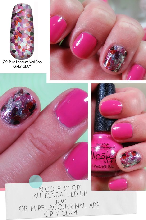 Nicole by OPI color plus OPI Pure Lacquer Nail Apps in Girly Glam ...