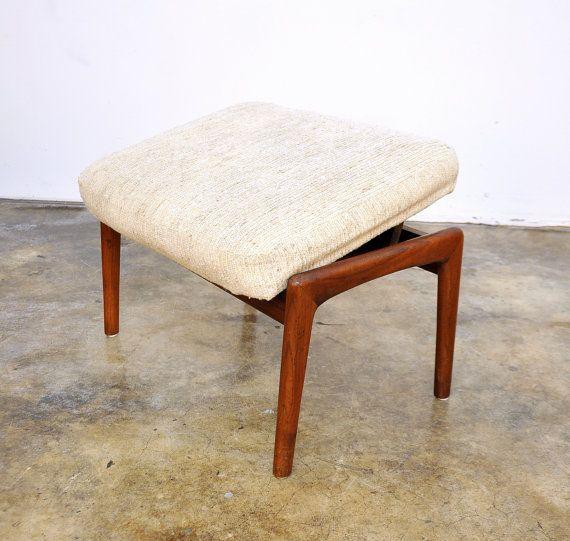 Danish Modern Folke Ohlsson Teak Ottoman Footstool For Dux Lounge