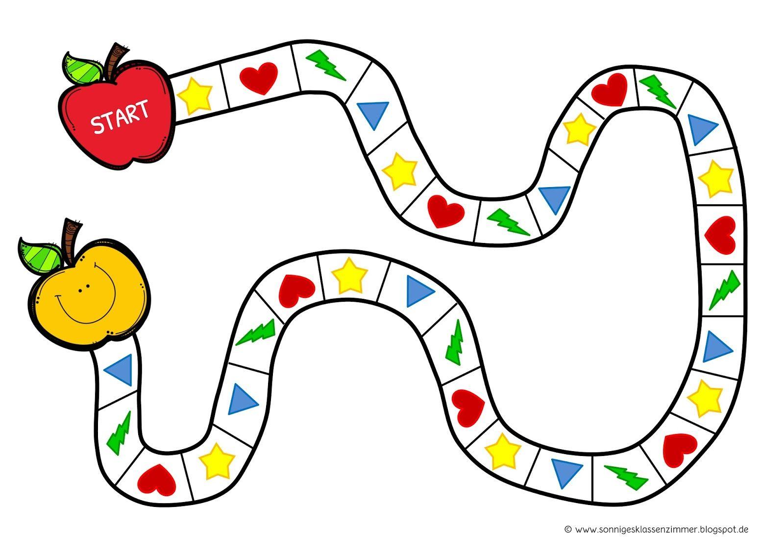 Brettspiel mit Spielkarten zum Schuljahresende Spielplan ...