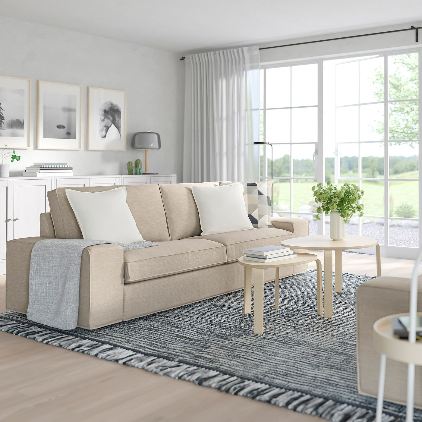 KIVIK Sofa - Hillared beige - IKEA in 9  Kivik sofa, Beige