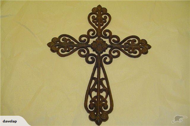 Ornate Cast Iron Cross.   Trade Me   Outdoor decor   Pinterest ...