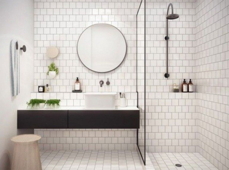 37 Fabulous Black And White Subway Tiles Bathroom Design Bathroomdesign Subwaytiles Bathroom White Bathroom Tiles White Subway Tile Bathroom Tile Bathroom