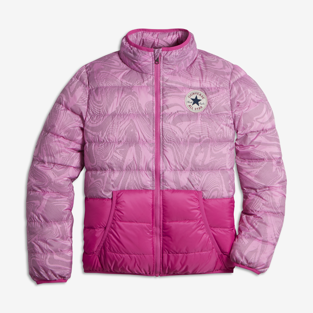 286def0357a27f Converse Packable Down Big Kids  (Girls ) Jacket Size Medium (Pink) -  Clearance Sale