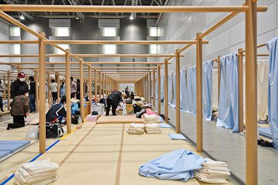 003 Paper Partition System for East Japan Earthquake and