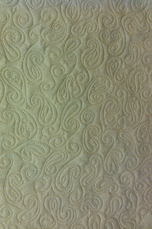 Paisley quilting pattern
