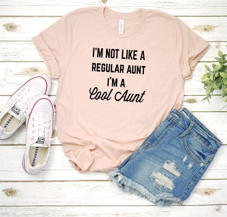 Im not a regular aunt I'm a cool aunt Aunt Shirt Auntie   Etsy