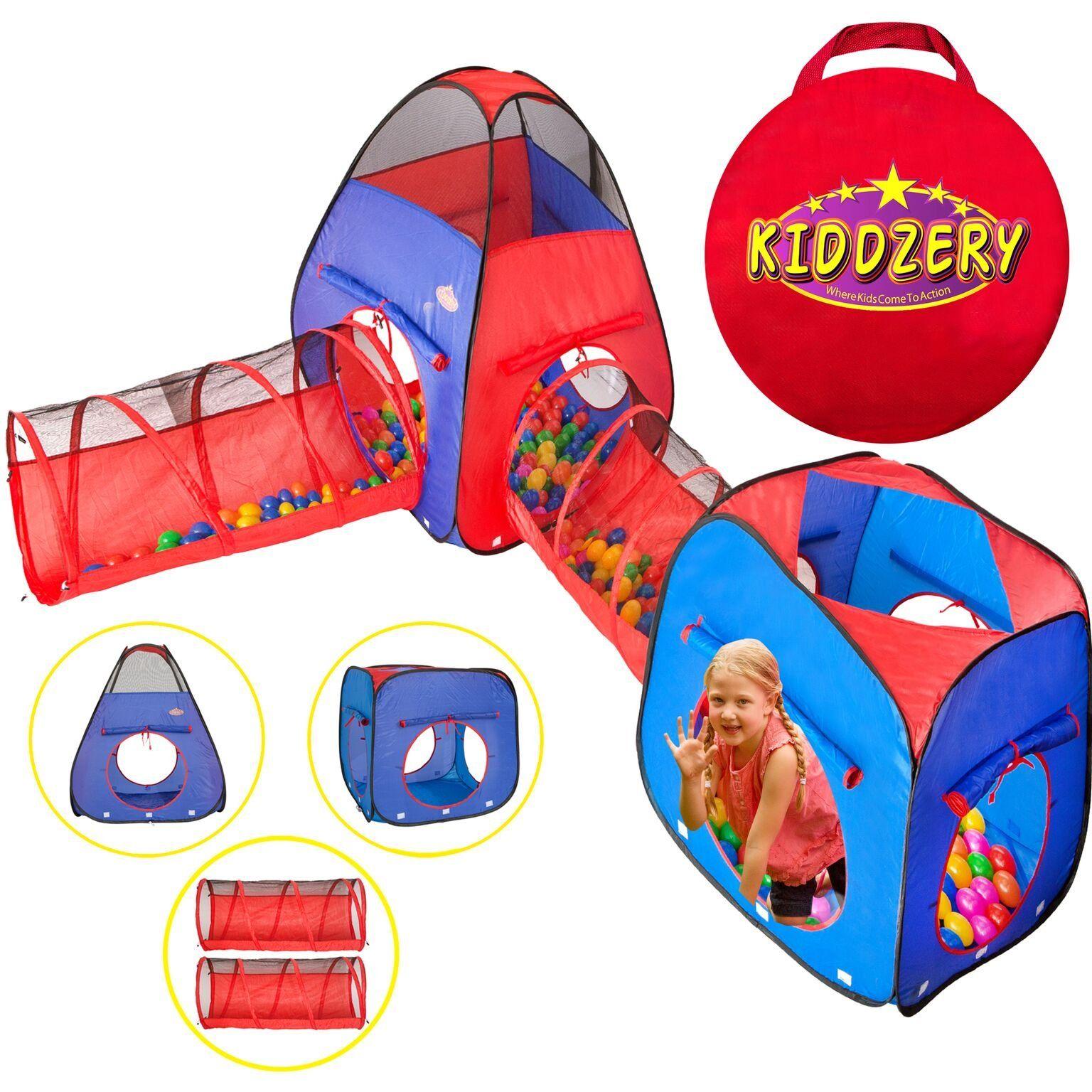 Kiddzery 4pc Kids Play tent Pop Up Ball Pit - 2 Tents + 2 Crawl Tunnels  sc 1 st  Pinterest & Kiddzery 4pc Kids Play tent Pop Up Ball Pit - 2 Tents + 2 Crawl ...