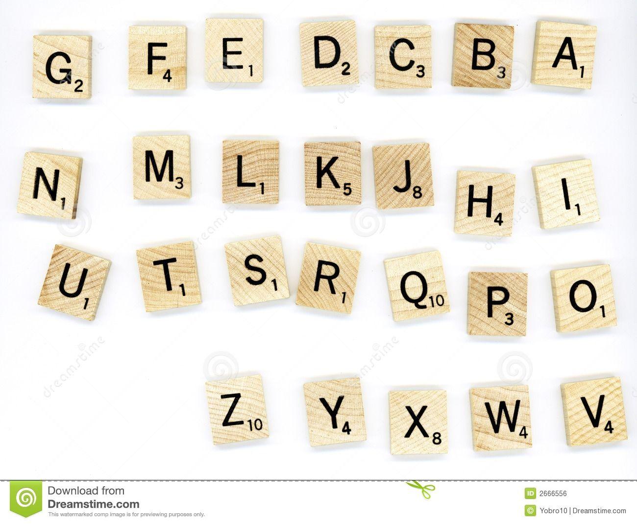 Scrabble Wood Letter Blocks Royalty Free Stock Image