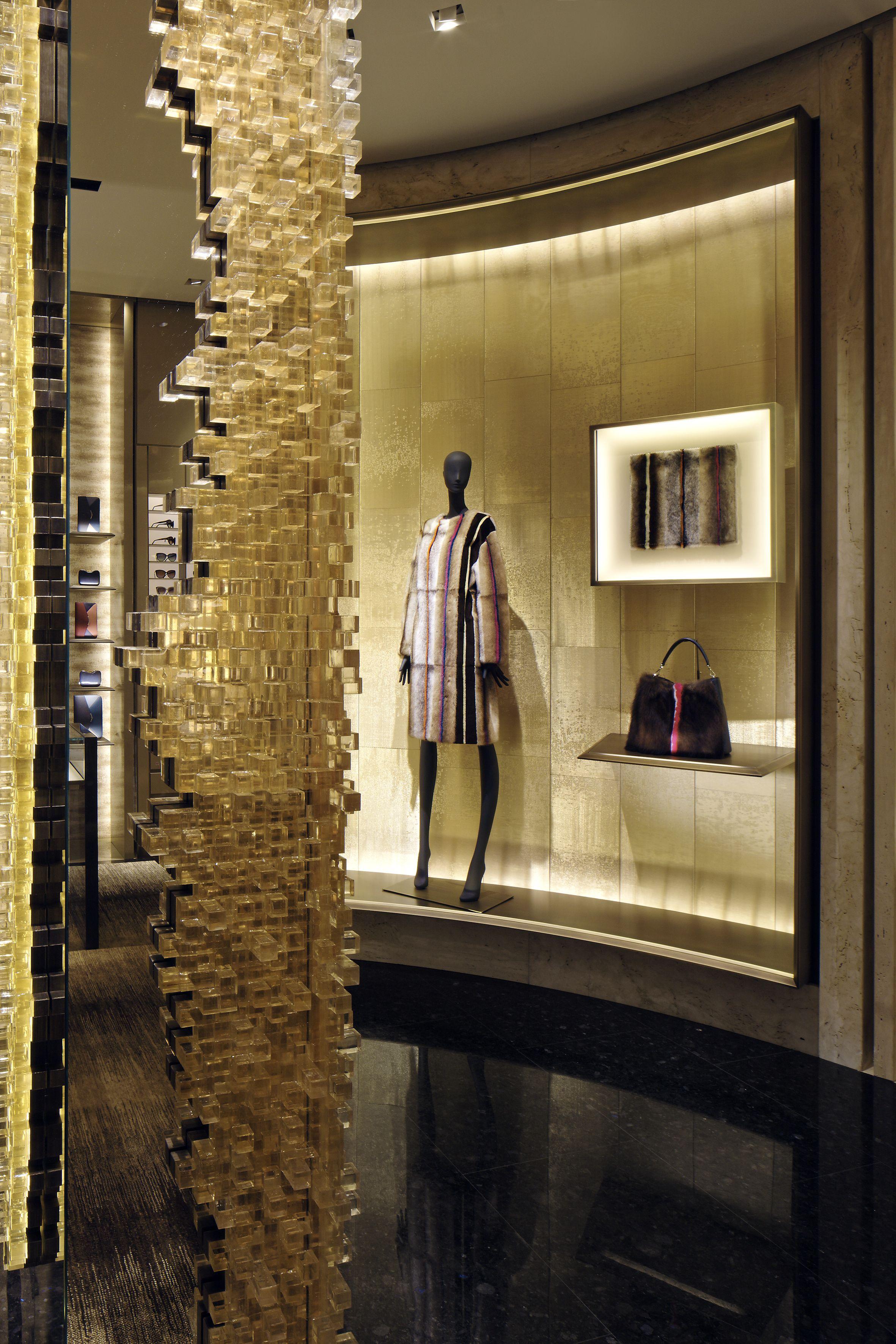 The new fendi boutique in milan progettazione design for Riviste di interior design
