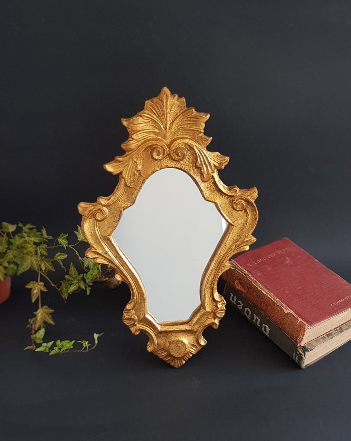 Antique Italian Wall Mirror Florentine Baroque Gilt Wall Mirror Ornate Carved Wood Frame Mirror Hollywood Re Mirror Wall Wood Framed Mirror Carved Wood Frame