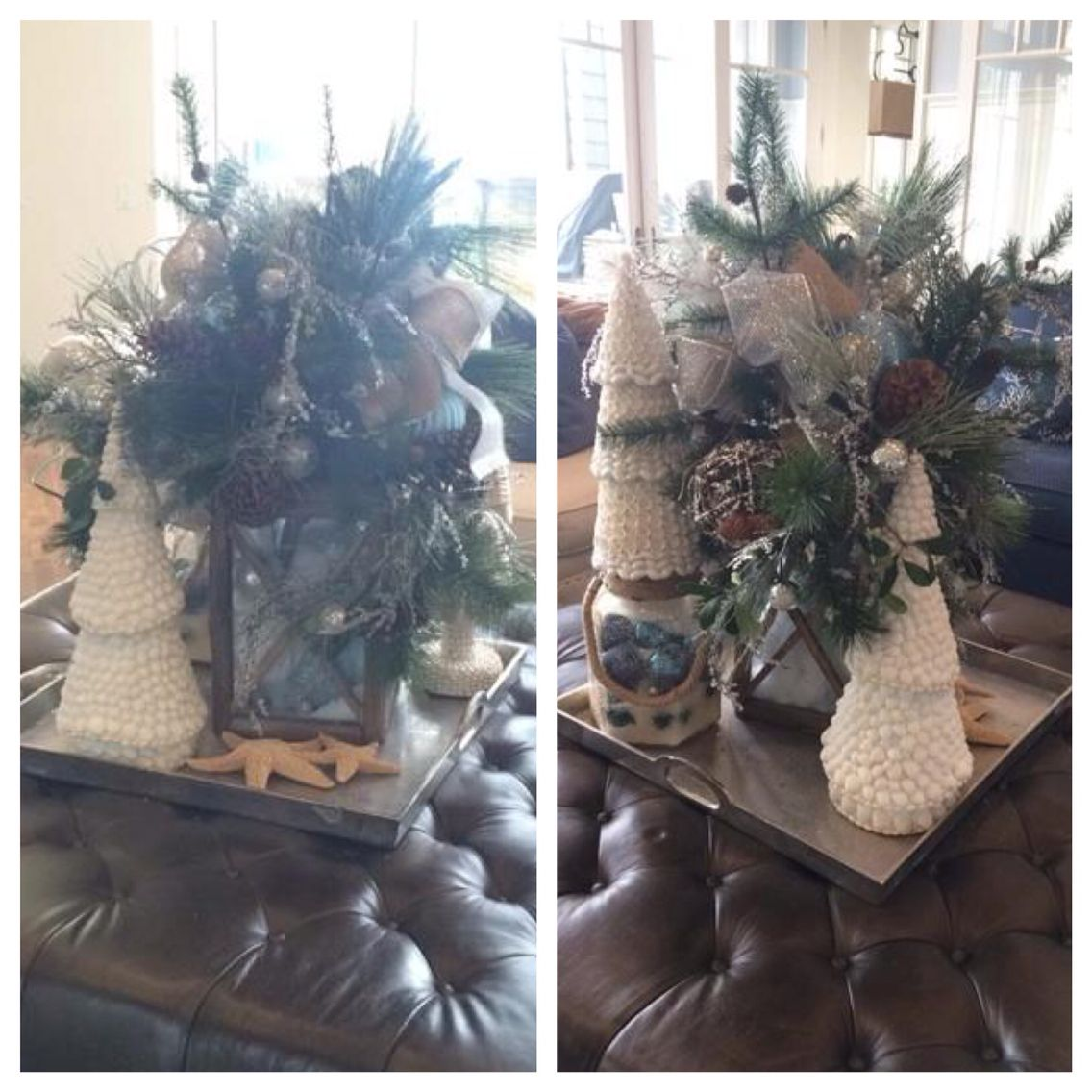 Both sides of centerpiece