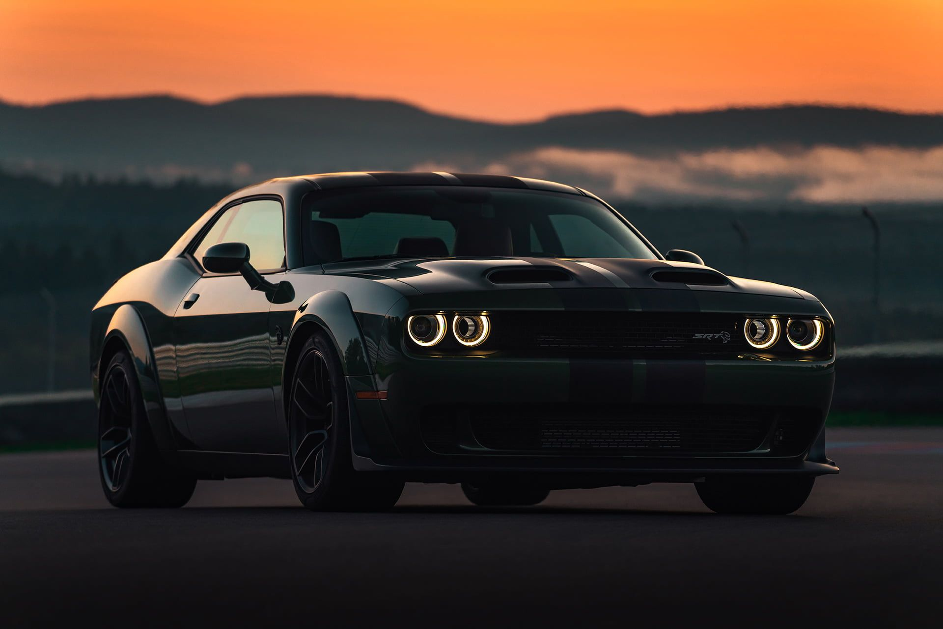 Car Vehicle Outdoors Dodge Challenger Dodge Challenger Srt