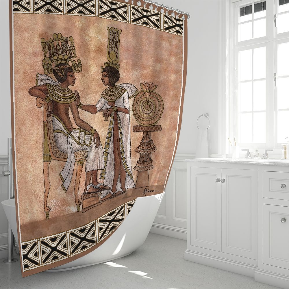 King And Queen Of Kemet Shower Curtain Shower Curtain Curtains Printed Shower Curtain