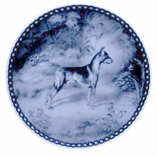 Miniature Pinscher / Lekven Design Dog Plate 19.5 cm /7.61 inches Made in Denmark NEW with certificate of origin PLATE -7054 * You can get additional details at the image link. (This is an affiliate link and I receive a commission for the sales)