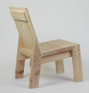 Reitveld inspired 2x4 chair by sander viegers for 2x4 furniture plans free