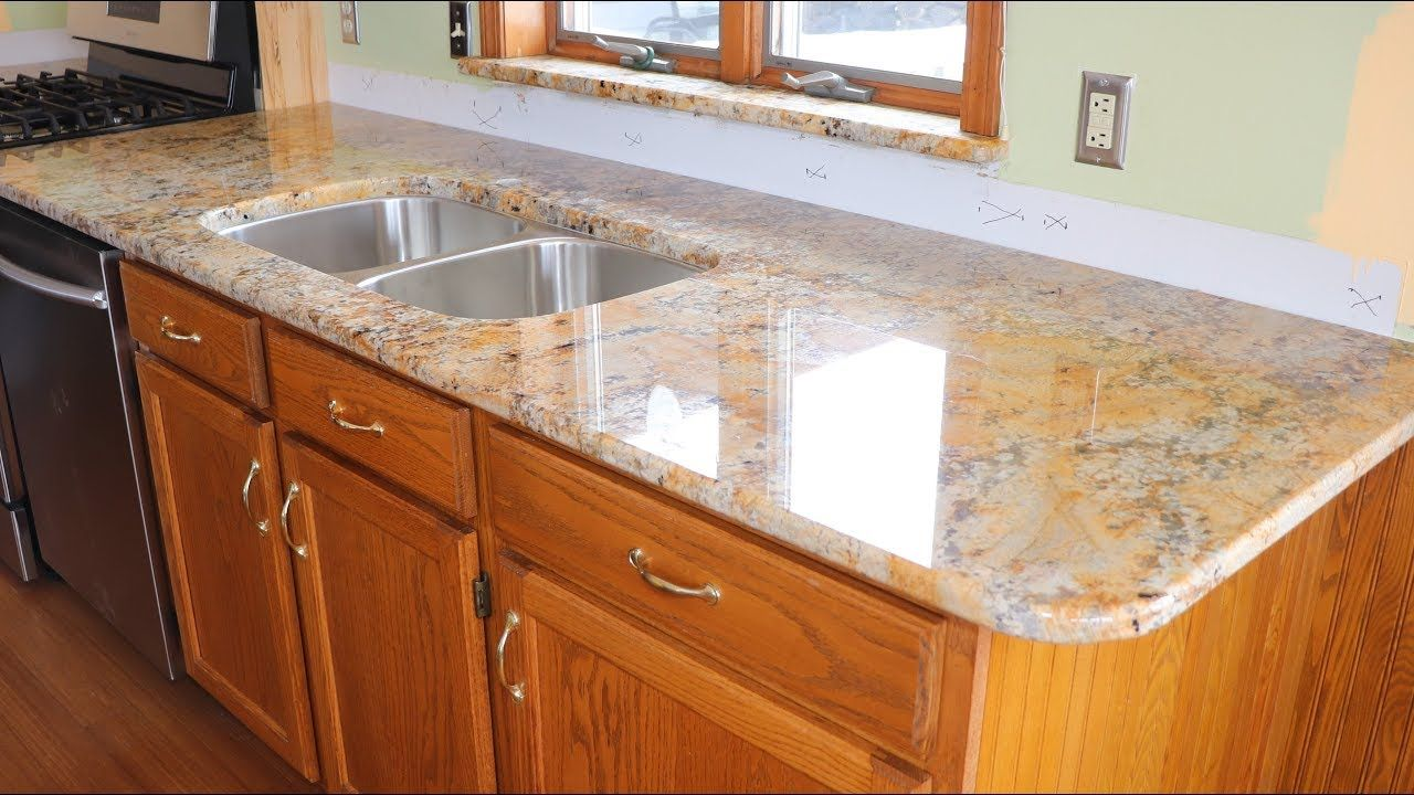 Installing A Countertop Kitchen Update Part 9 Installing The Granite Countertops Kitchen