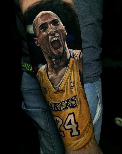 Realistic Kobe Bryant Tattoo | Tattoos | Kobe bryant ...