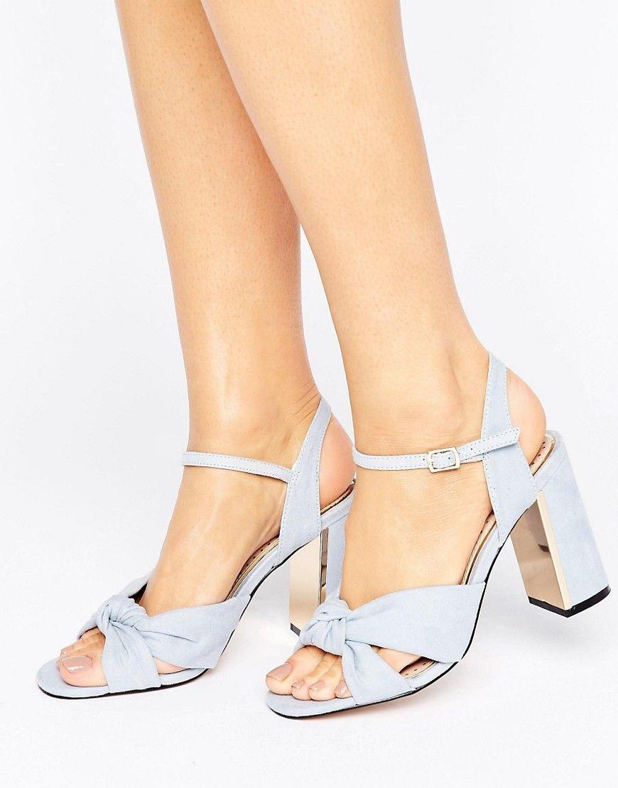 f128b1c70fe Miss KG Grace Knot Heeled Sandals - Blue