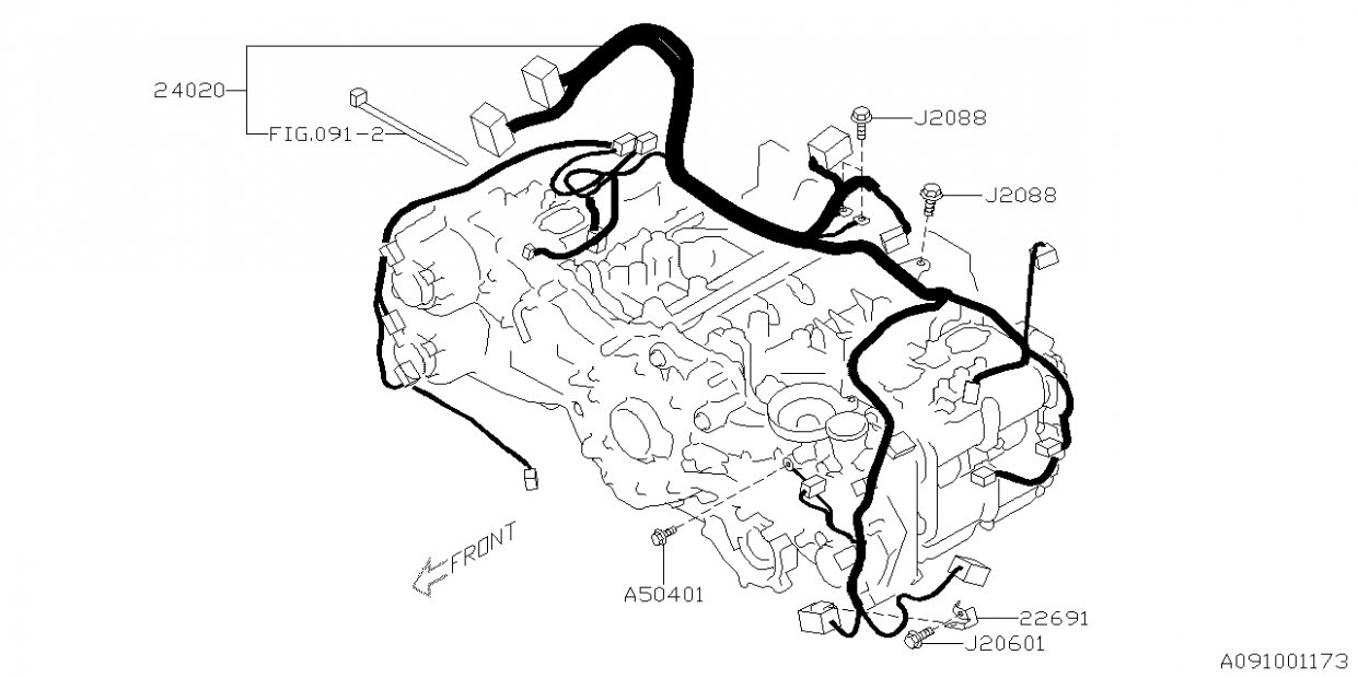 Subaru Engine Wiring Harness Diagram Subaru Engine Wiring