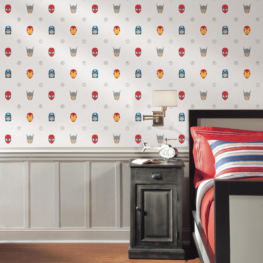 Avengers Character Spot Peel And Stick Wallpaper In 2021 Avengers Room Peel And Stick Wallpaper Kids Wall Decor