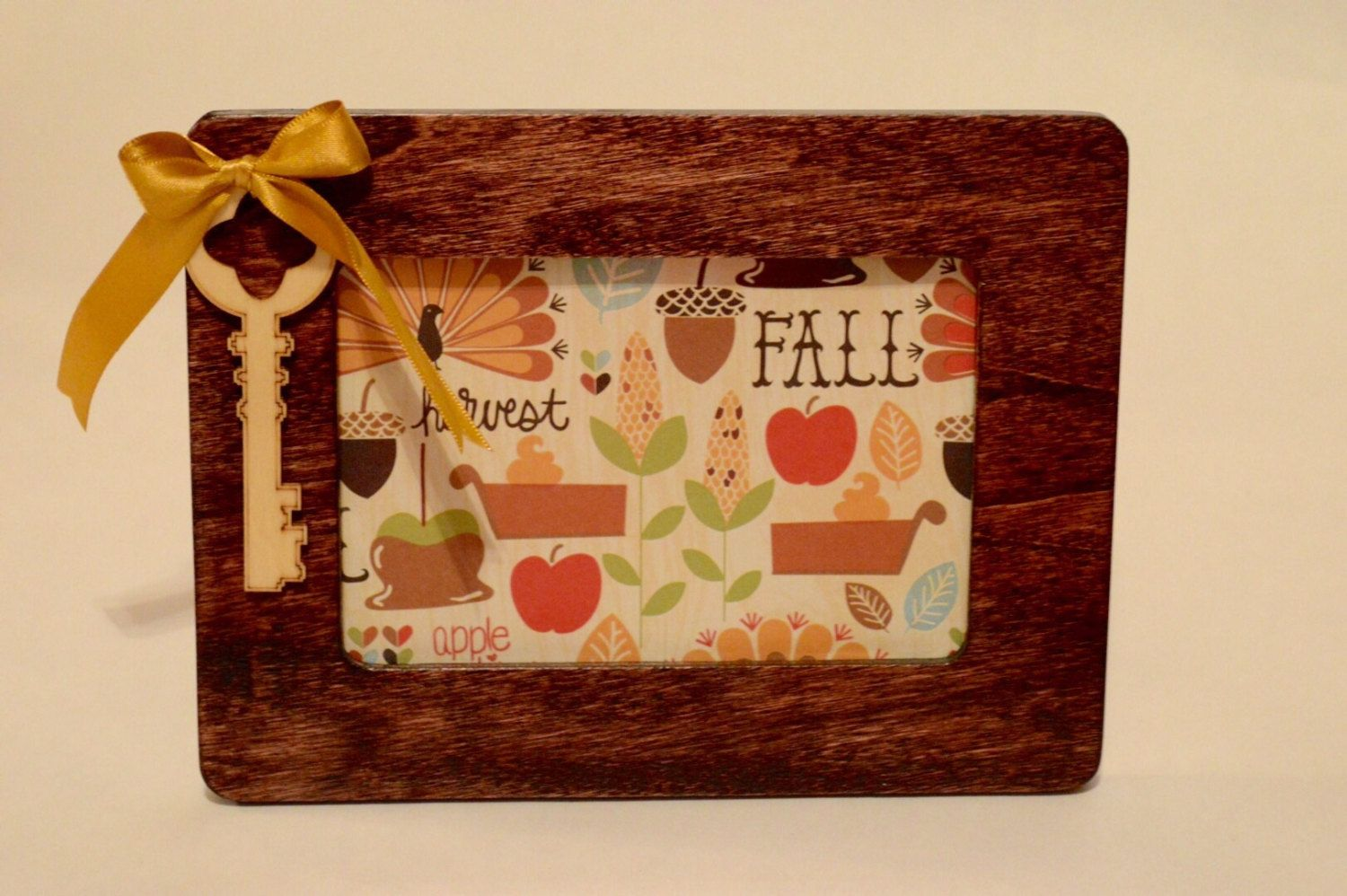 Key to Happiness Wooden Frame by Acorn Grove by AcornGrove on Etsy