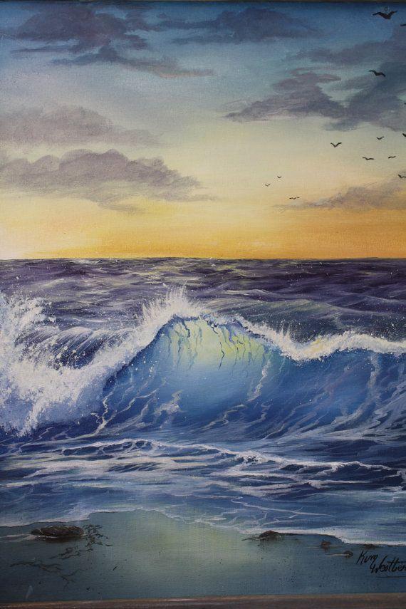 Morning Wave By Kimwestberryart On Etsy Seascape Paintings Ocean Painting Surf Art