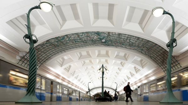 Metro stations: 12) Slavyansky Bulva, Moscow. Photo: Kirill Kudryavtsev/AFP/Getty Images
