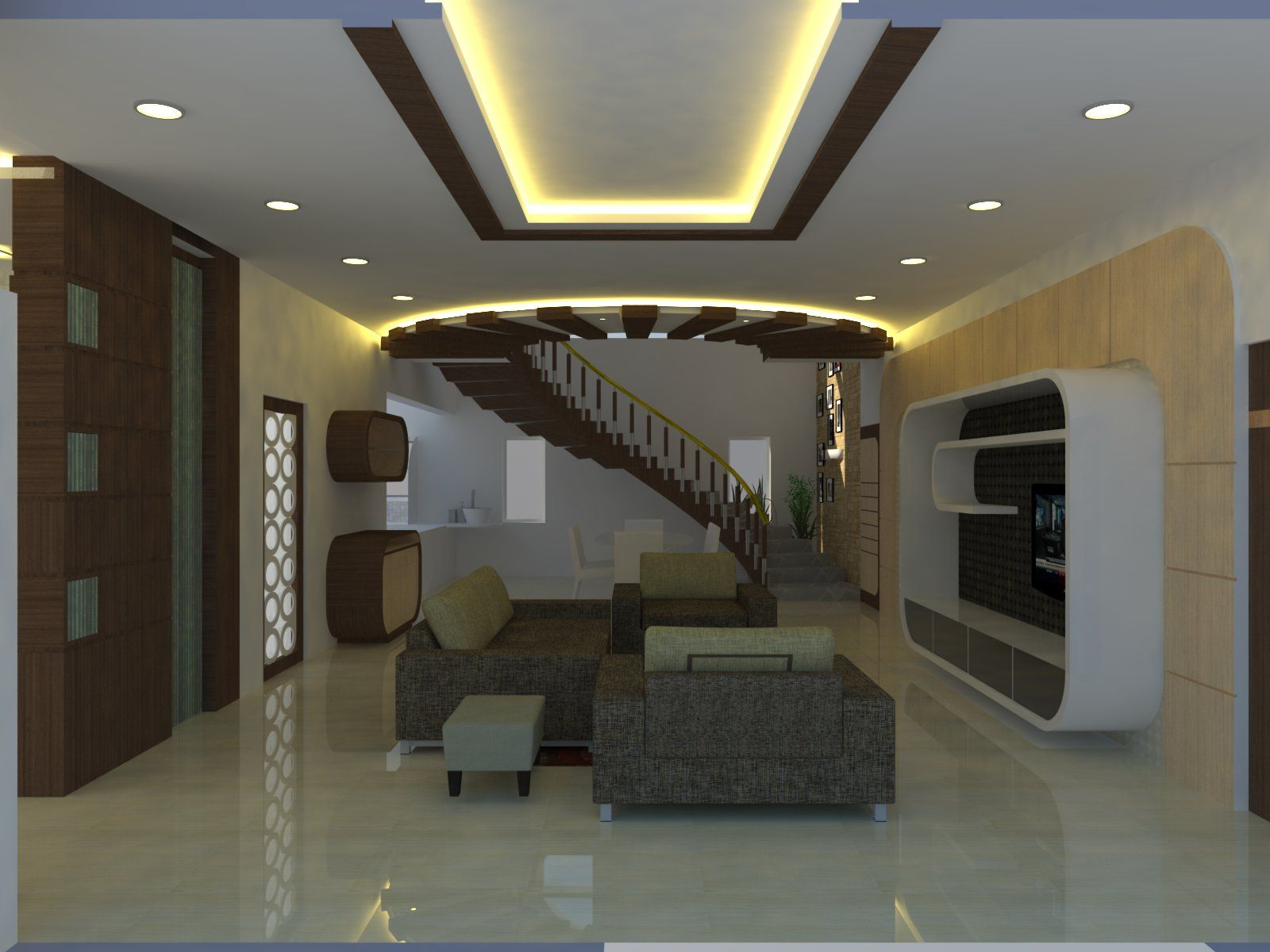 Living Room Design With Stairs Cool Ideas Top 100 Interior