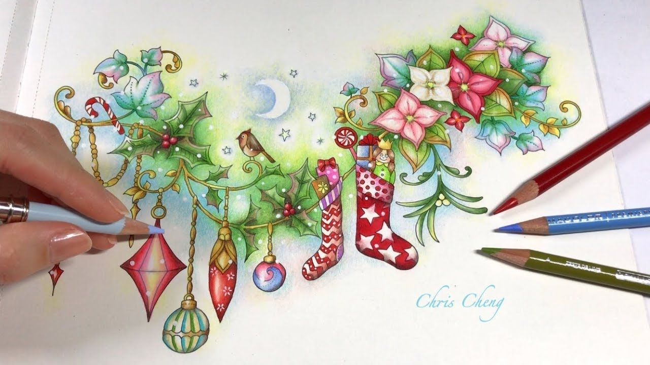 merry christmas johannas christmas coloring book chris cheng youtube