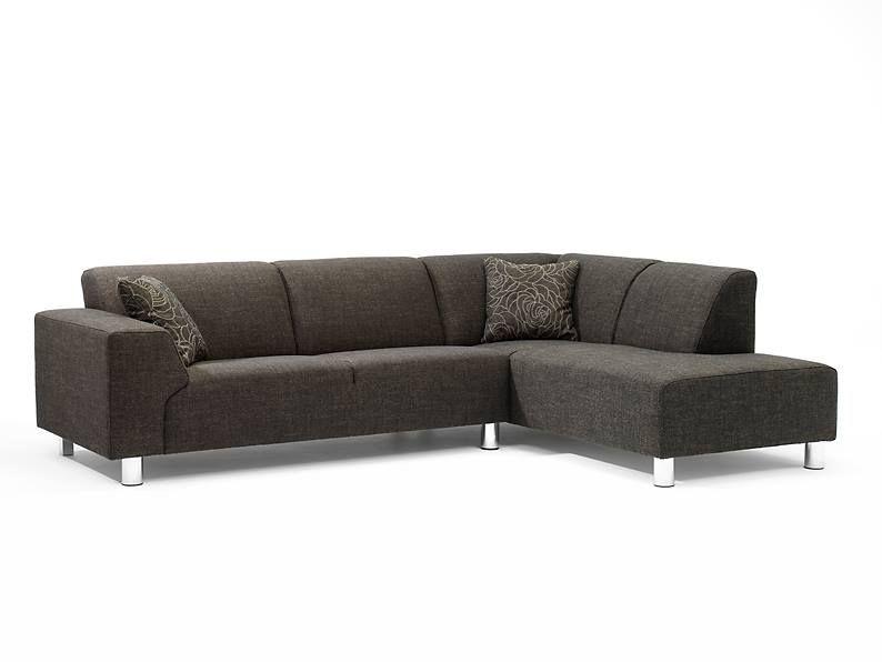 Moderne strakke hoekbank pluto van sitdesign in vele stoffen en