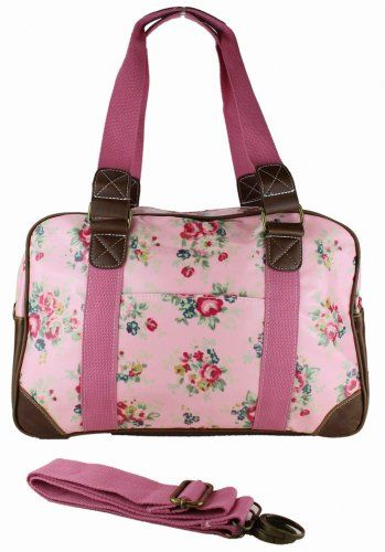 Miss Lulu Designer Ladies Hand Bag Flower - Light Pink Miss Lulu
